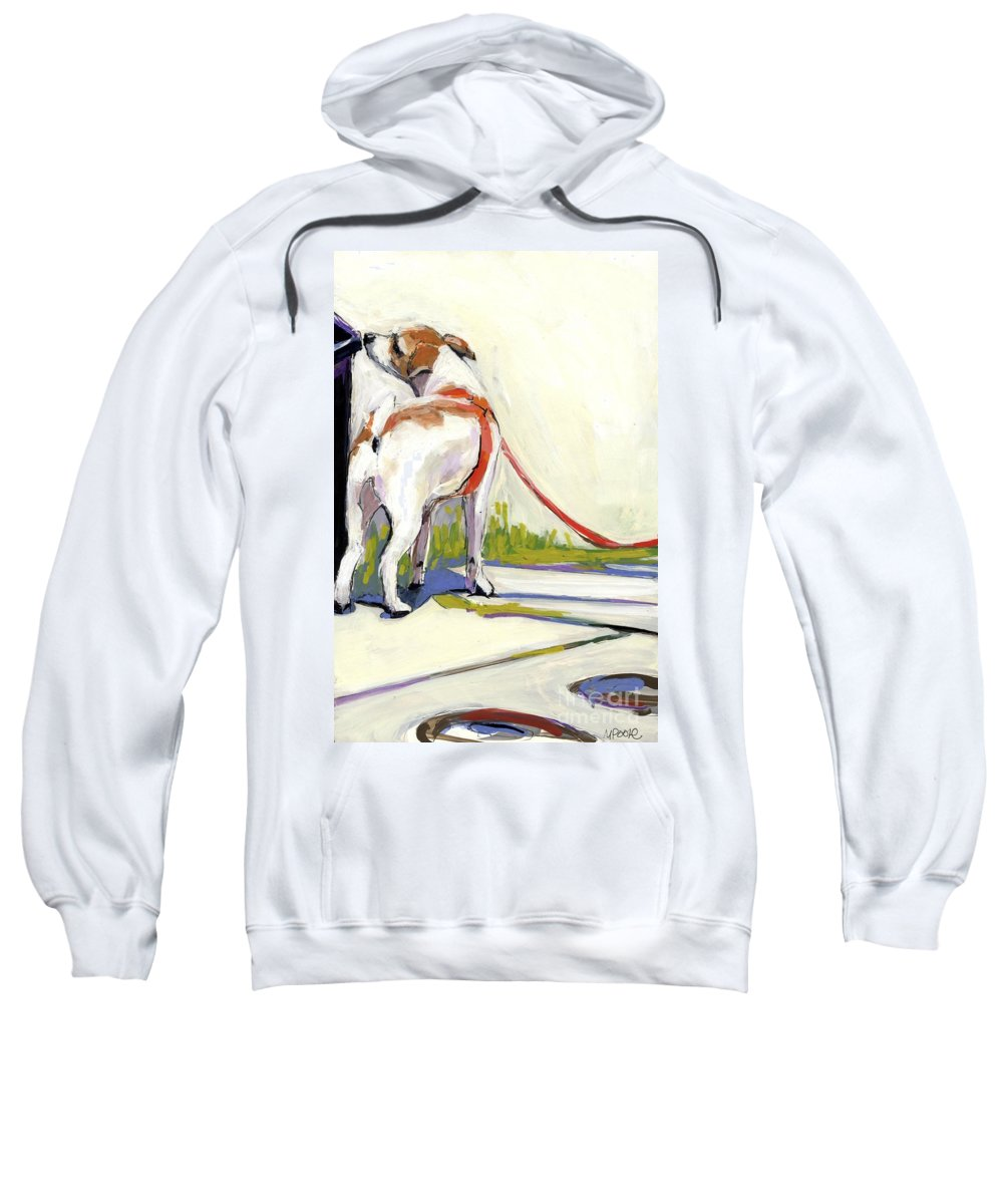 Dog Sweatshirt featuring the painting Curbside by Molly Poole