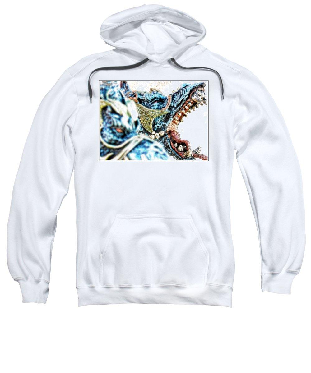 Hcs Nls Hcns Ohdz Sweatshirt featuring the photograph Da Dragon Comic IIacd by Omar Hernandez