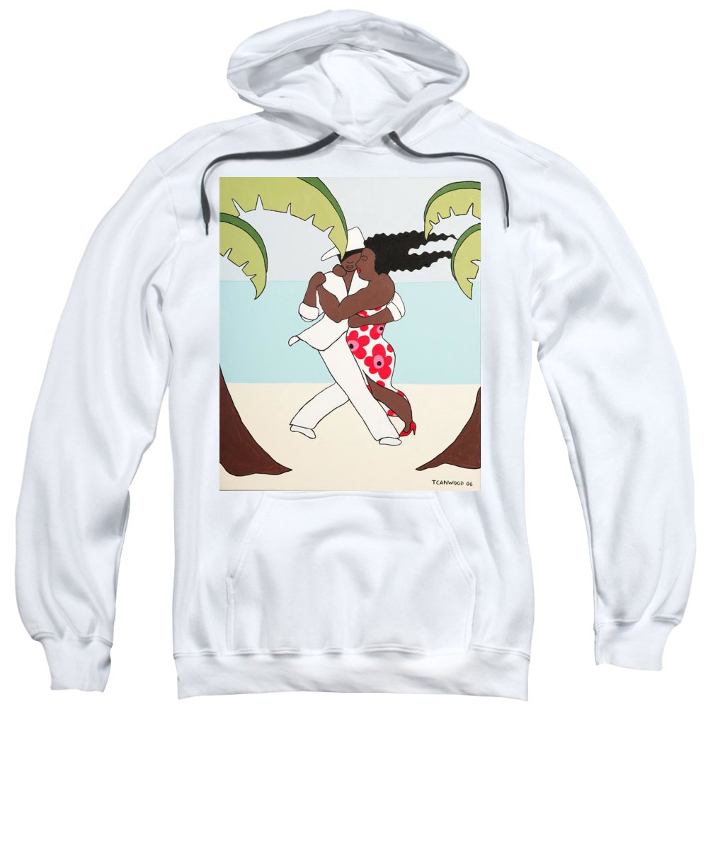 Caribbean Sweatshirt featuring the painting Dancers 2 by Trudie Canwood