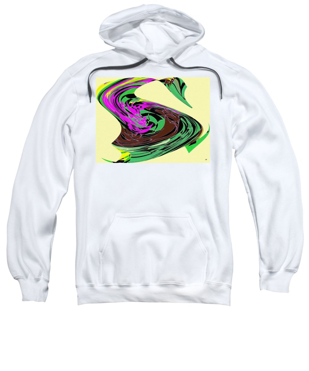 Abstract Sweatshirt featuring the digital art Dancing Goose 2 by Will Borden