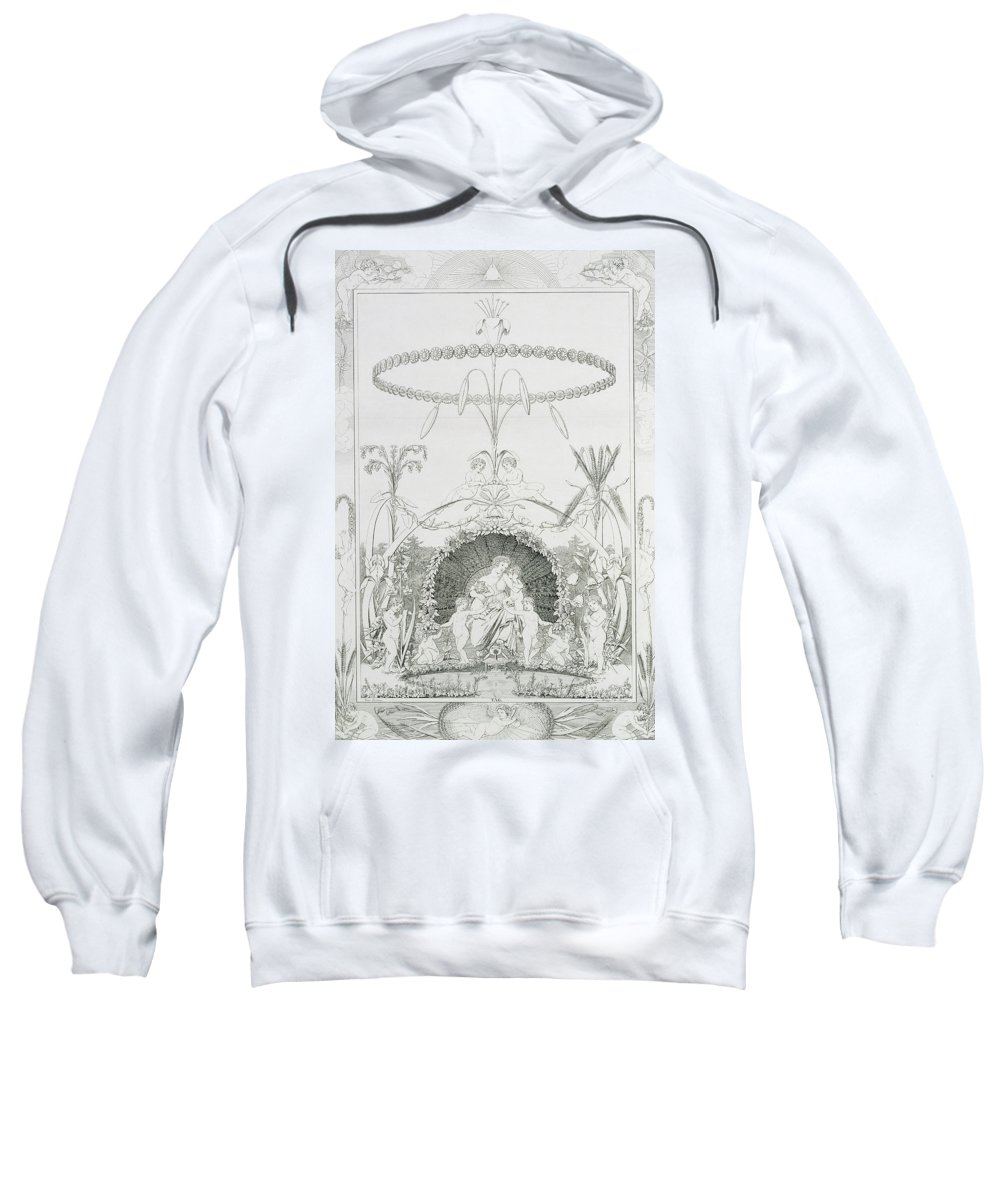 Day Sweatshirt featuring the drawing Day by Philipp Otto Runge