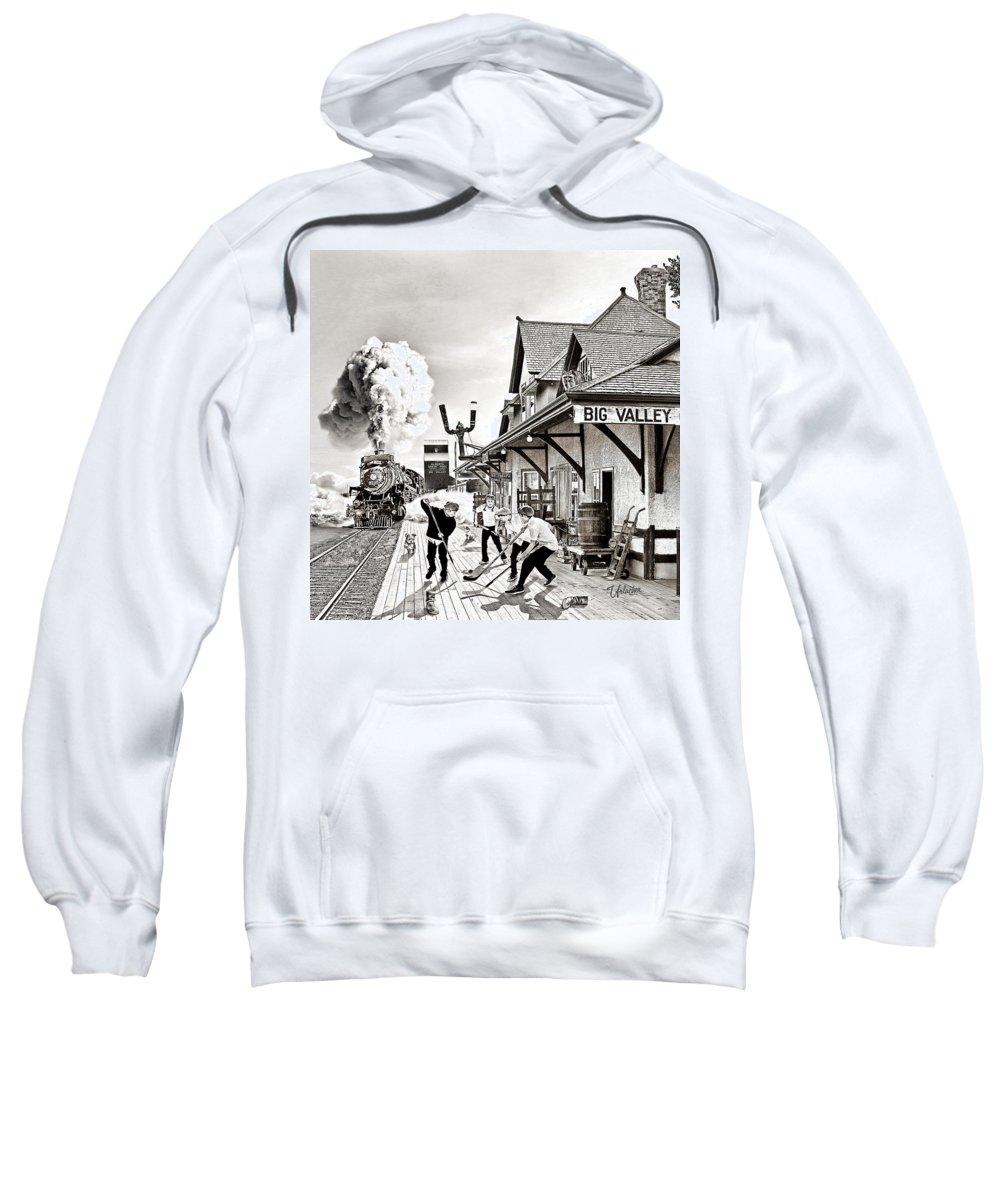 Hockey Art Prints Sweatshirt featuring the photograph Days Gone By by Elizabeth Urlacher