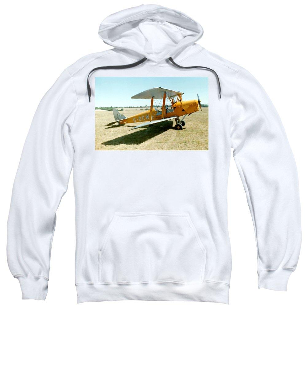 De Havilland Sweatshirt featuring the photograph De-havilland Tiger Moth by Ted Denyer