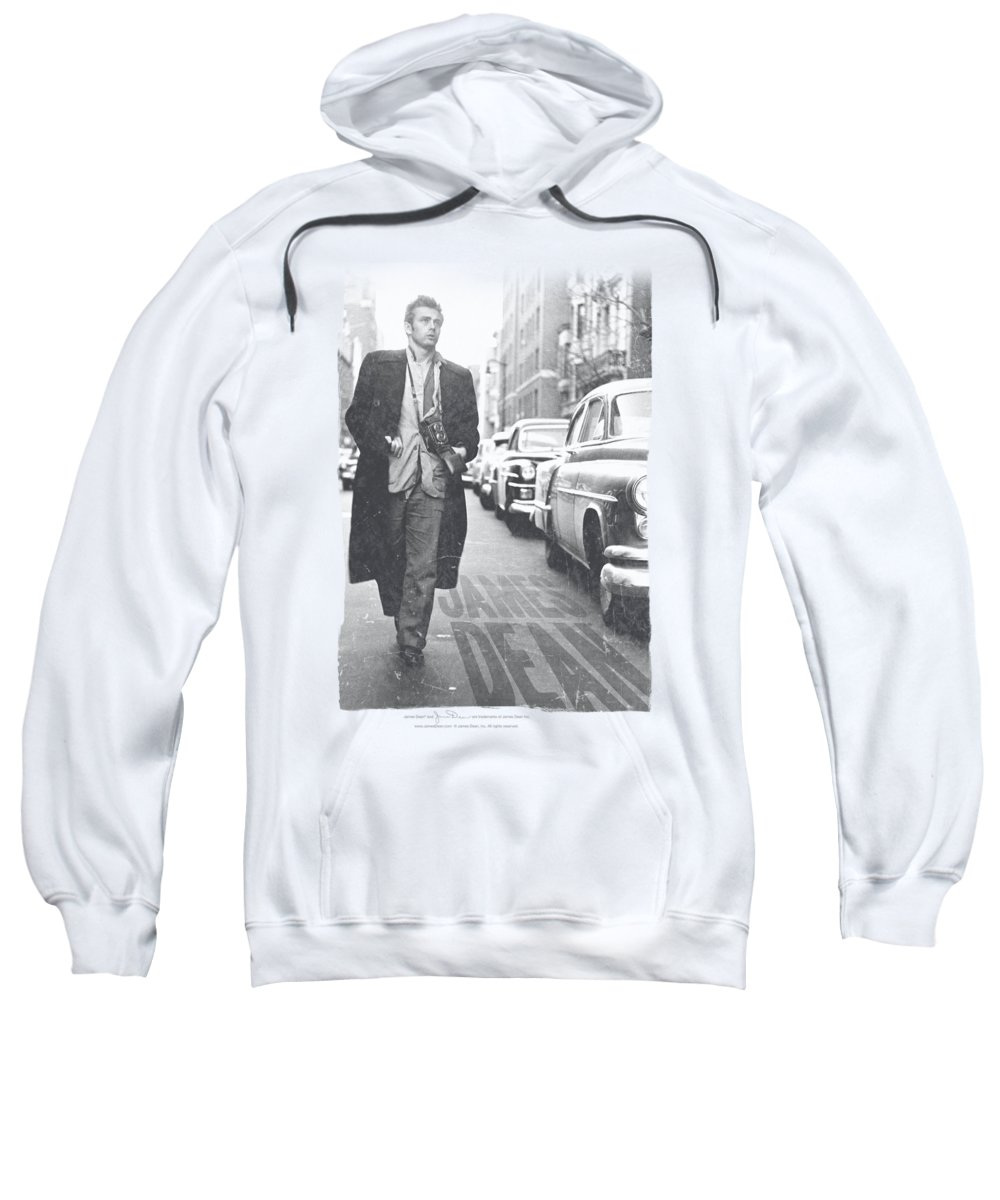 James Dean Sweatshirt featuring the digital art Dean - On The Street by Brand A