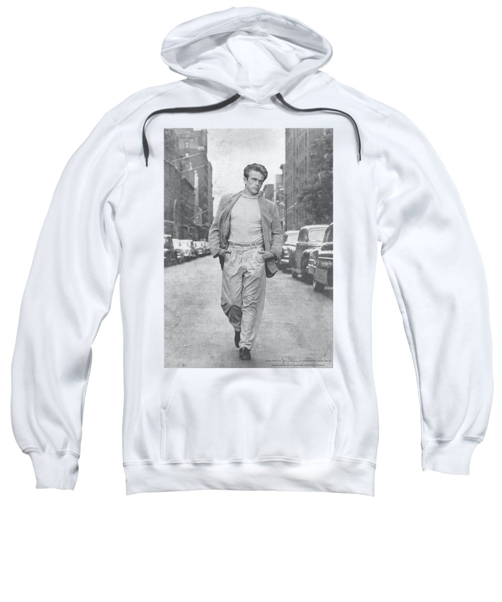 James Dean Sweatshirt featuring the digital art Dean - Walk The Walk by Brand A
