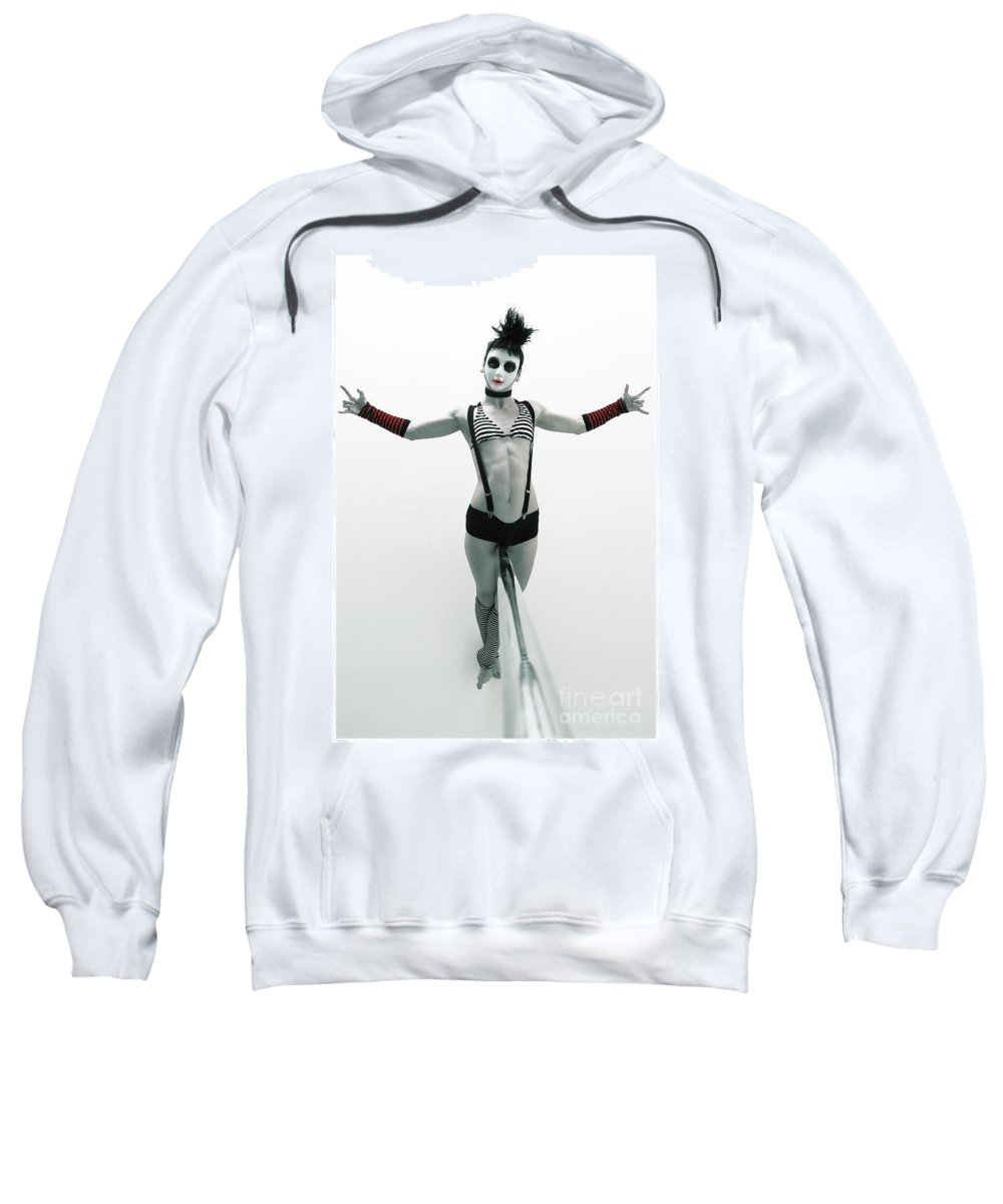 Pole Dance Sweatshirt featuring the photograph Death Lay by MAD Art and Circus