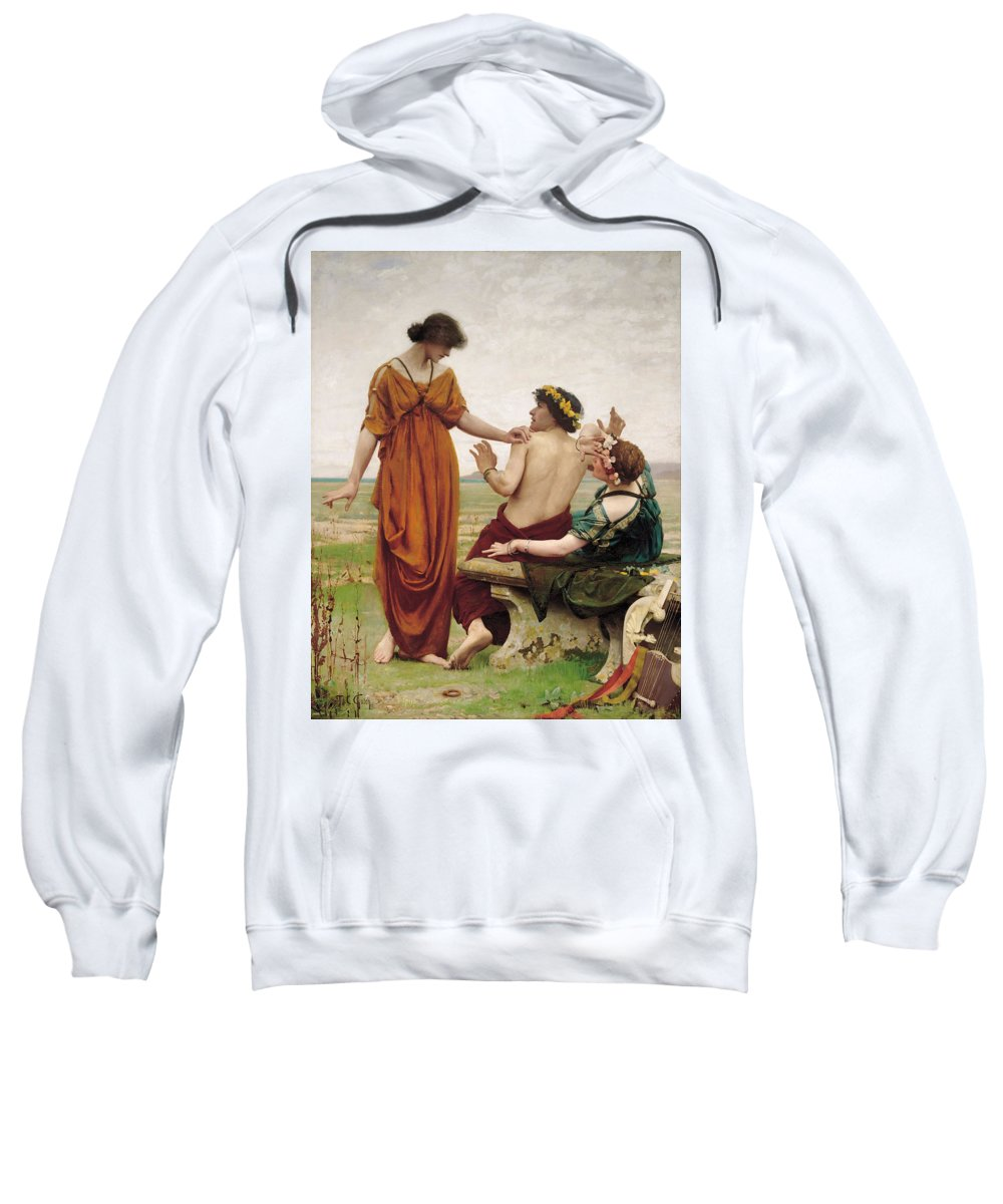 Thomas Cooper Gotch Sweatshirt featuring the painting Destiny by Thomas Cooper Gotch