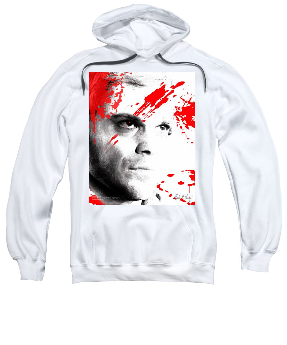 Dexter Sweatshirt featuring the digital art Dexter Dreaming by Dale Loos Jr