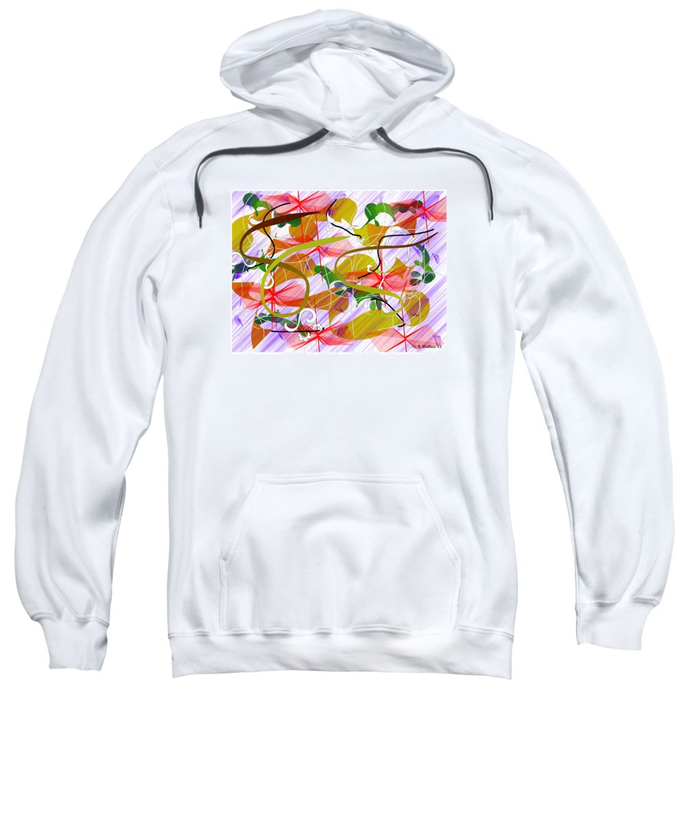 2d Sweatshirt featuring the digital art Digital Abstract 3 by Brian Wallace