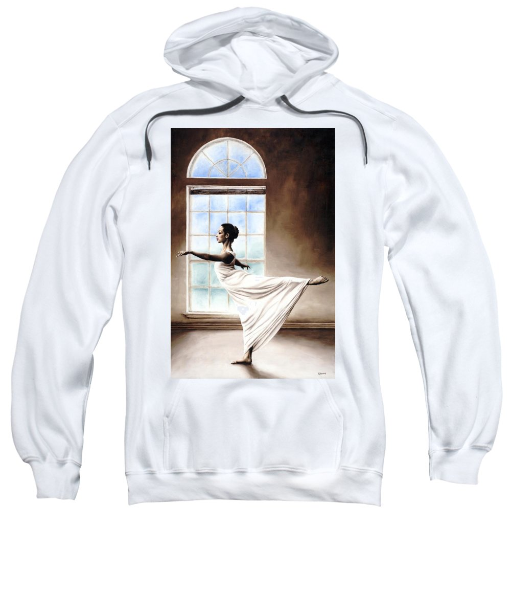 Dance Sweatshirt featuring the painting Divine Grace by Richard Young