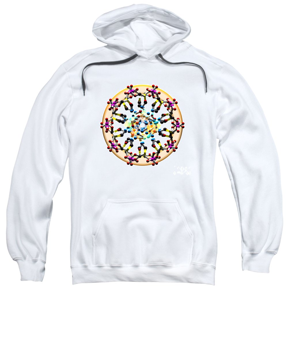 Axial Sweatshirt featuring the digital art Dna 49 by Russell Kightley