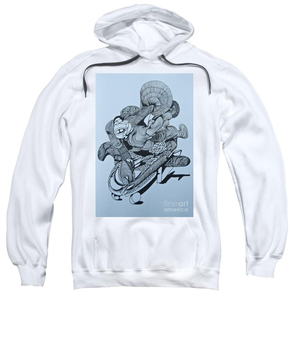 Doodle Sweatshirt featuring the painting Doodle - 02 by James Lavott