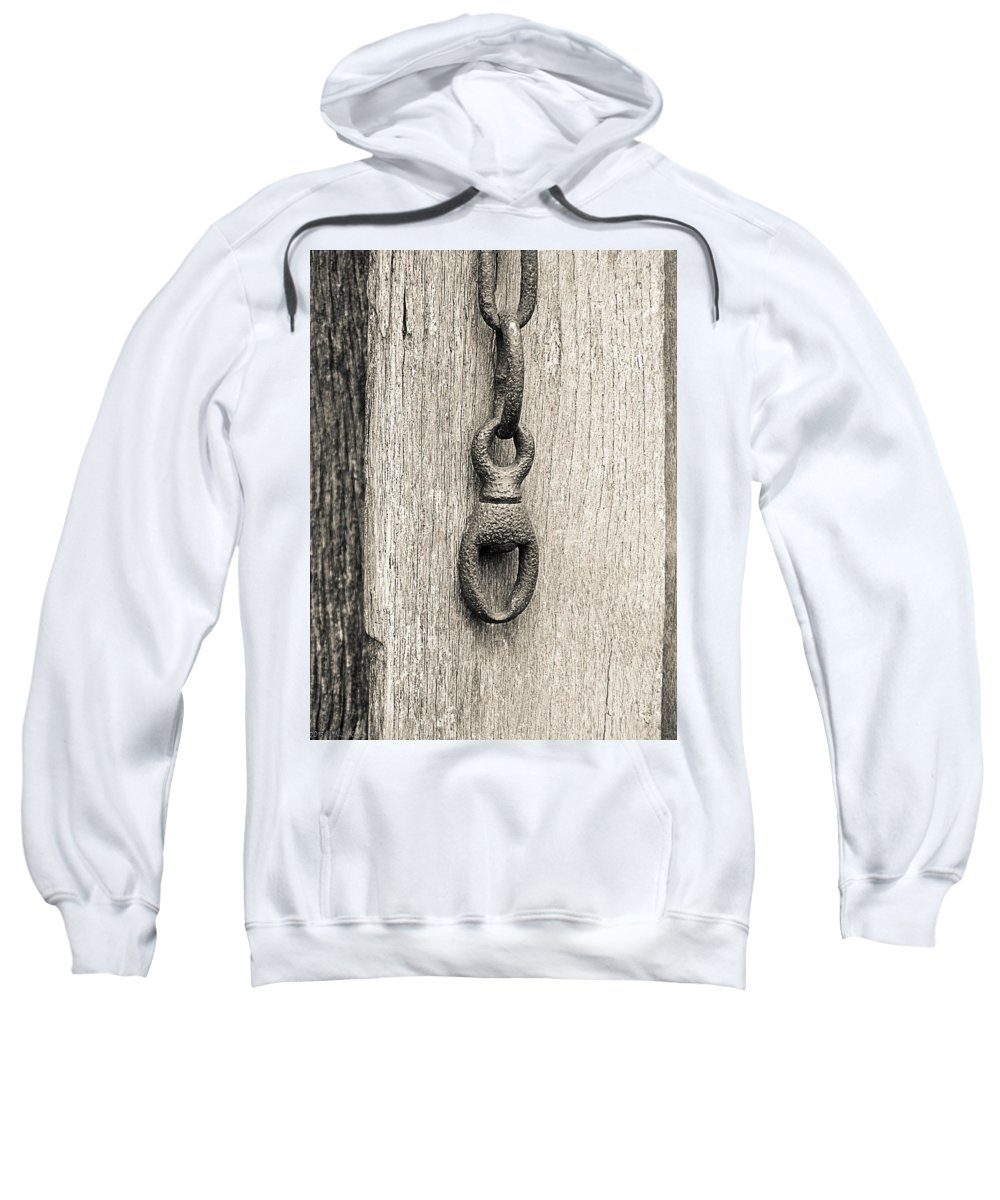 Chain Sweatshirt featuring the photograph Door Chain by Nick Kirby