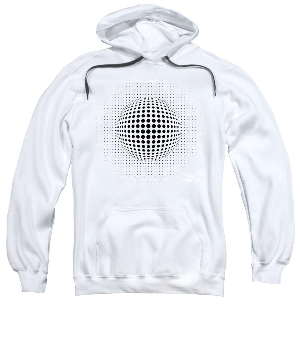 Ornament Sweatshirt featuring the digital art Dots by Michal Boubin