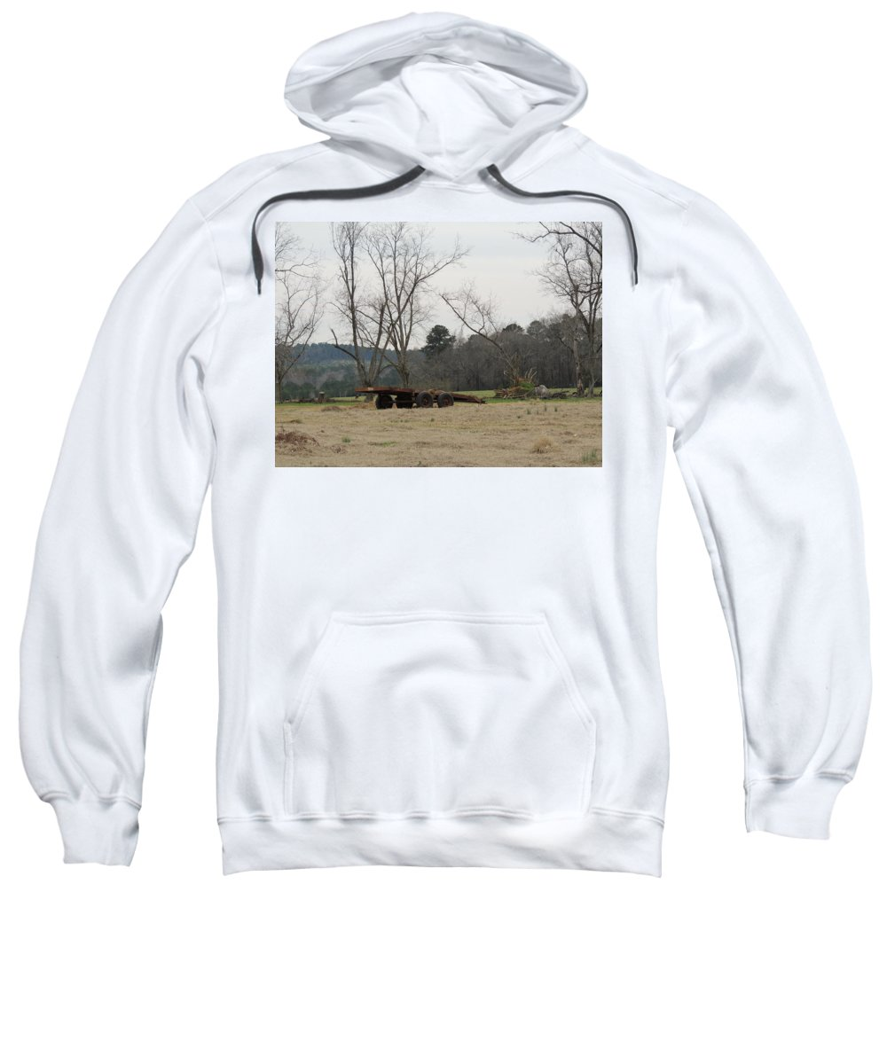 Farm Sweatshirt featuring the photograph Down On The Farm by Marian Bell