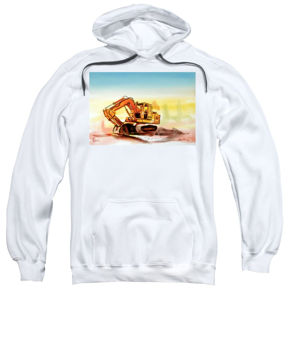 Dozer October Sweatshirt featuring the painting Dozer October by Kip DeVore