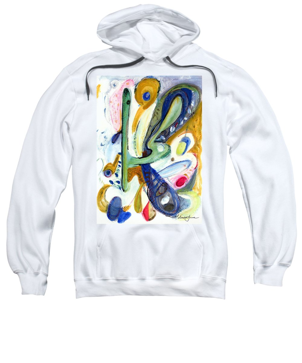 Abstract Art Sweatshirt featuring the painting Dreams by Stephen Lucas