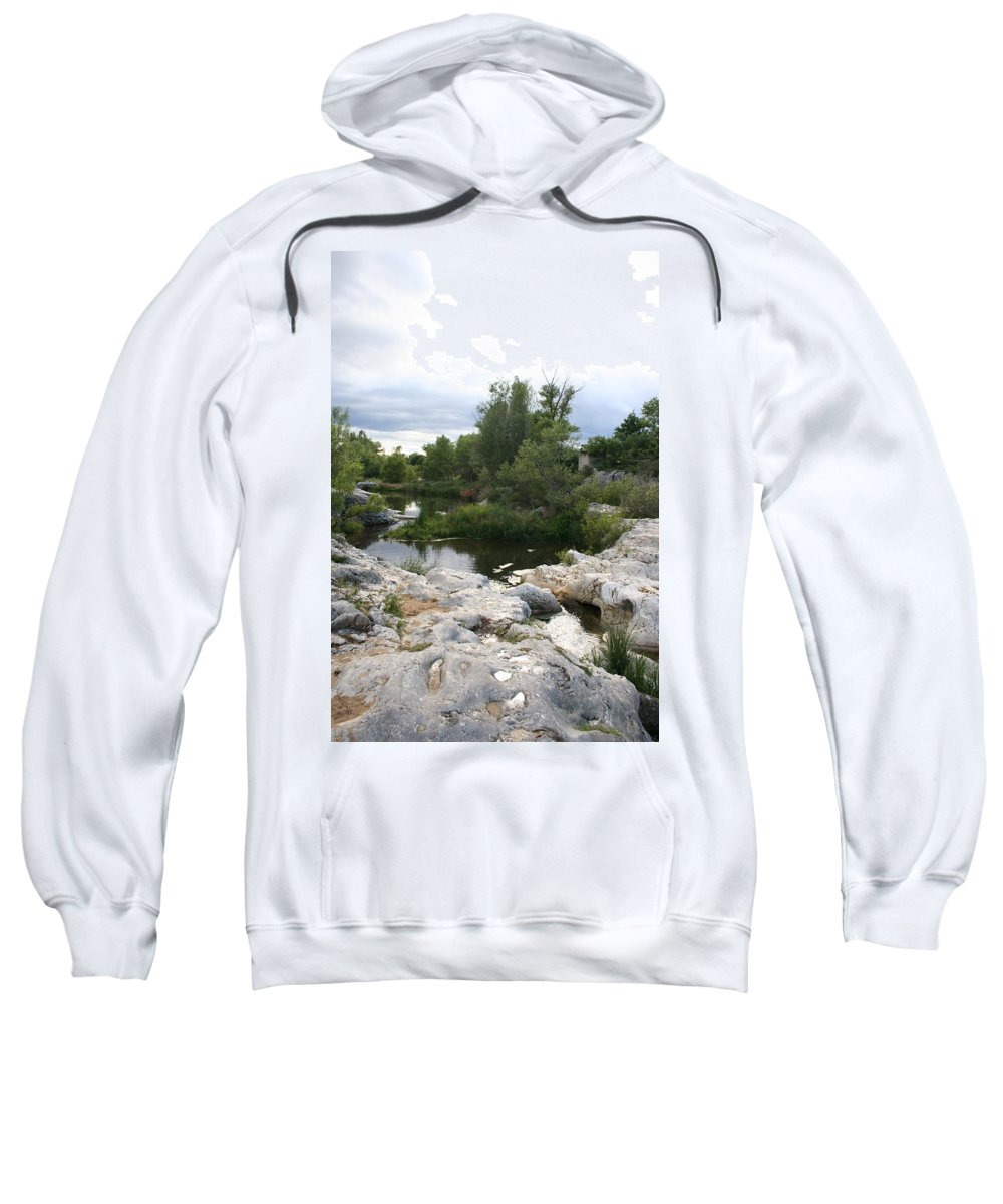 Stones Sweatshirt featuring the photograph Dreamy River by Christiane Schulze Art And Photography