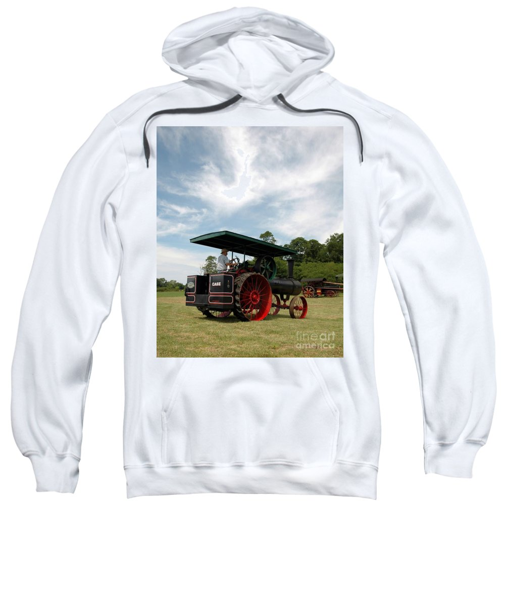 Steam Sweatshirt featuring the photograph Driving The Engine by Kathleen Struckle