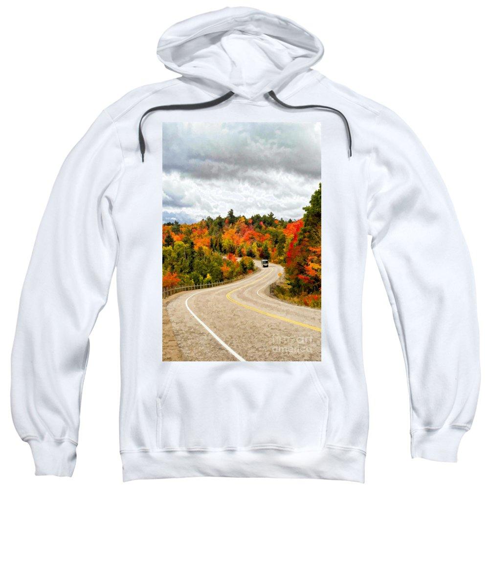Algonquin Sweatshirt featuring the photograph Driving Through Algonquin Park - V2 by Les Palenik