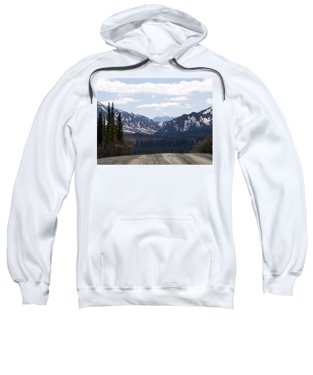 Denali National Park Sweatshirt featuring the photograph Drop Off by Tara Lynn