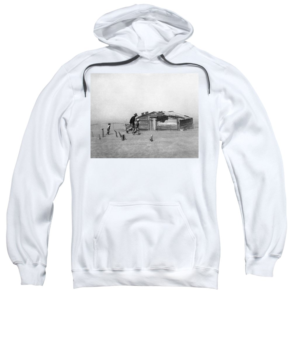 1936 Sweatshirt featuring the photograph Drought Dust Storm, 1936 by Granger