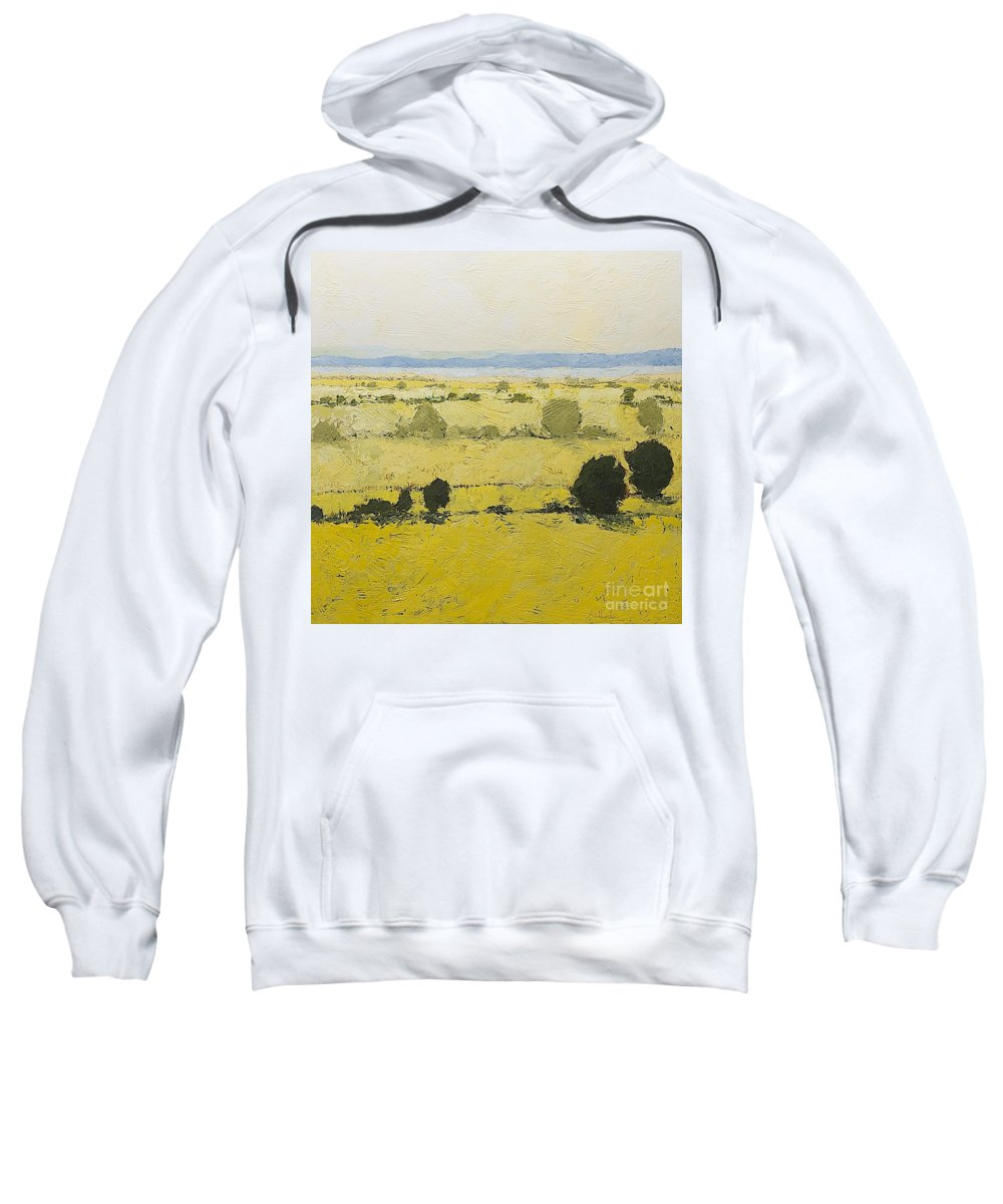 Landscape Sweatshirt featuring the painting Dry Grass by Allan P Friedlander