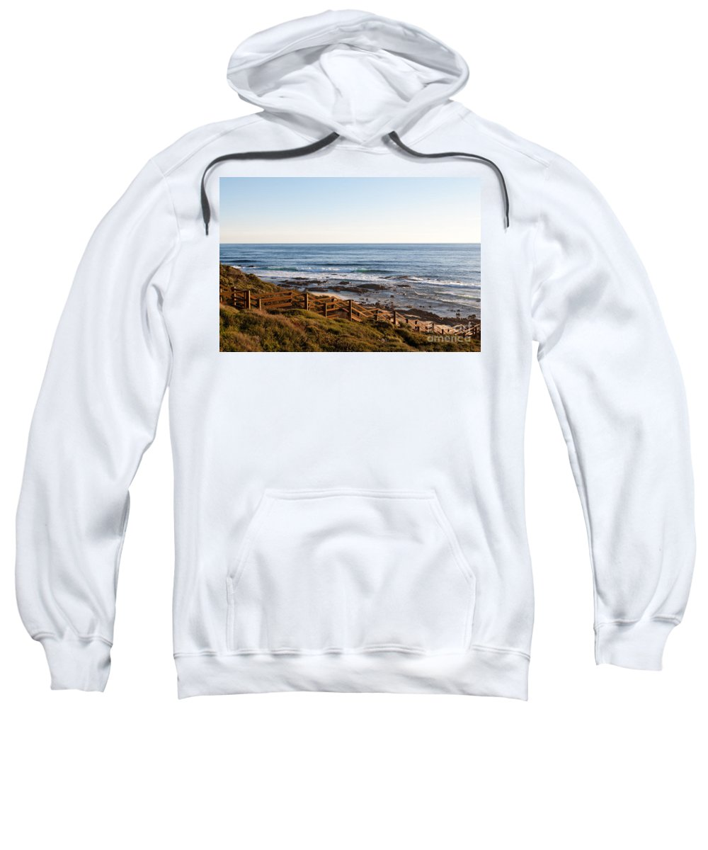 Australia Sweatshirt featuring the photograph Dune Steps 01 by Rick Piper Photography