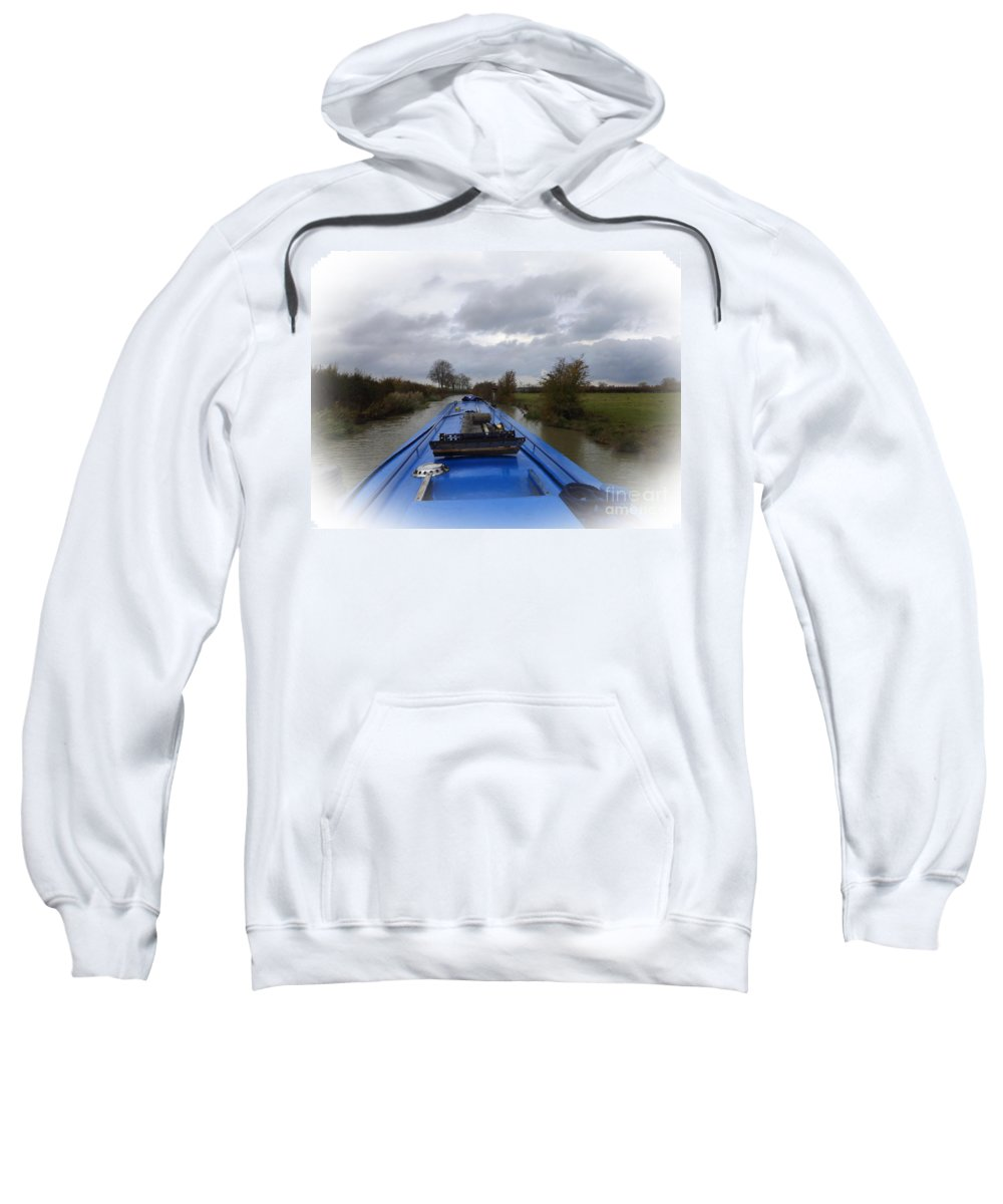 Narrowboat Sweatshirt featuring the photograph Dunrushin by Linsey Williams