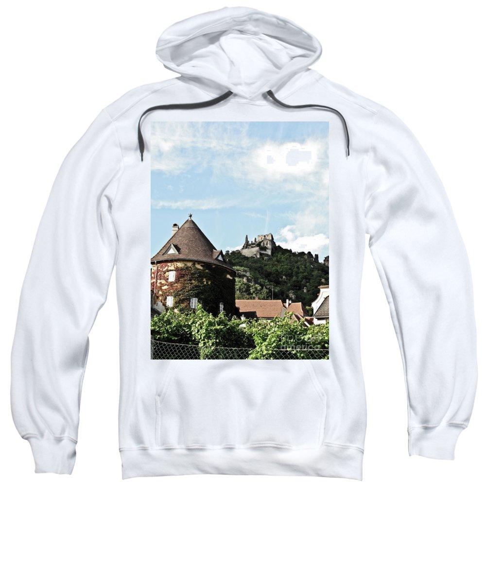 Travel Sweatshirt featuring the photograph Durnstein Castle by Elvis Vaughn