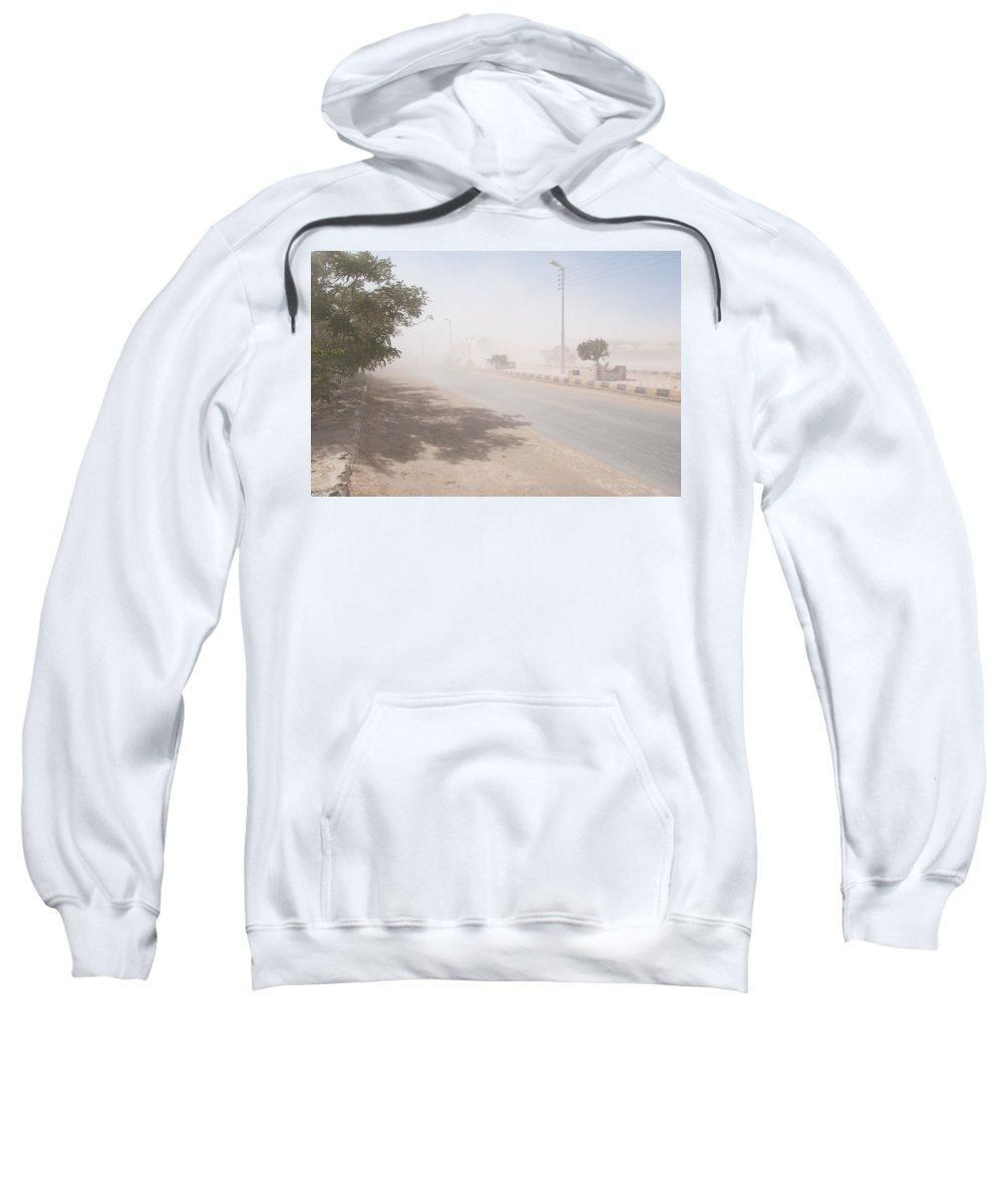 Egypt Sweatshirt featuring the digital art Dust Storm by Carol Ailles