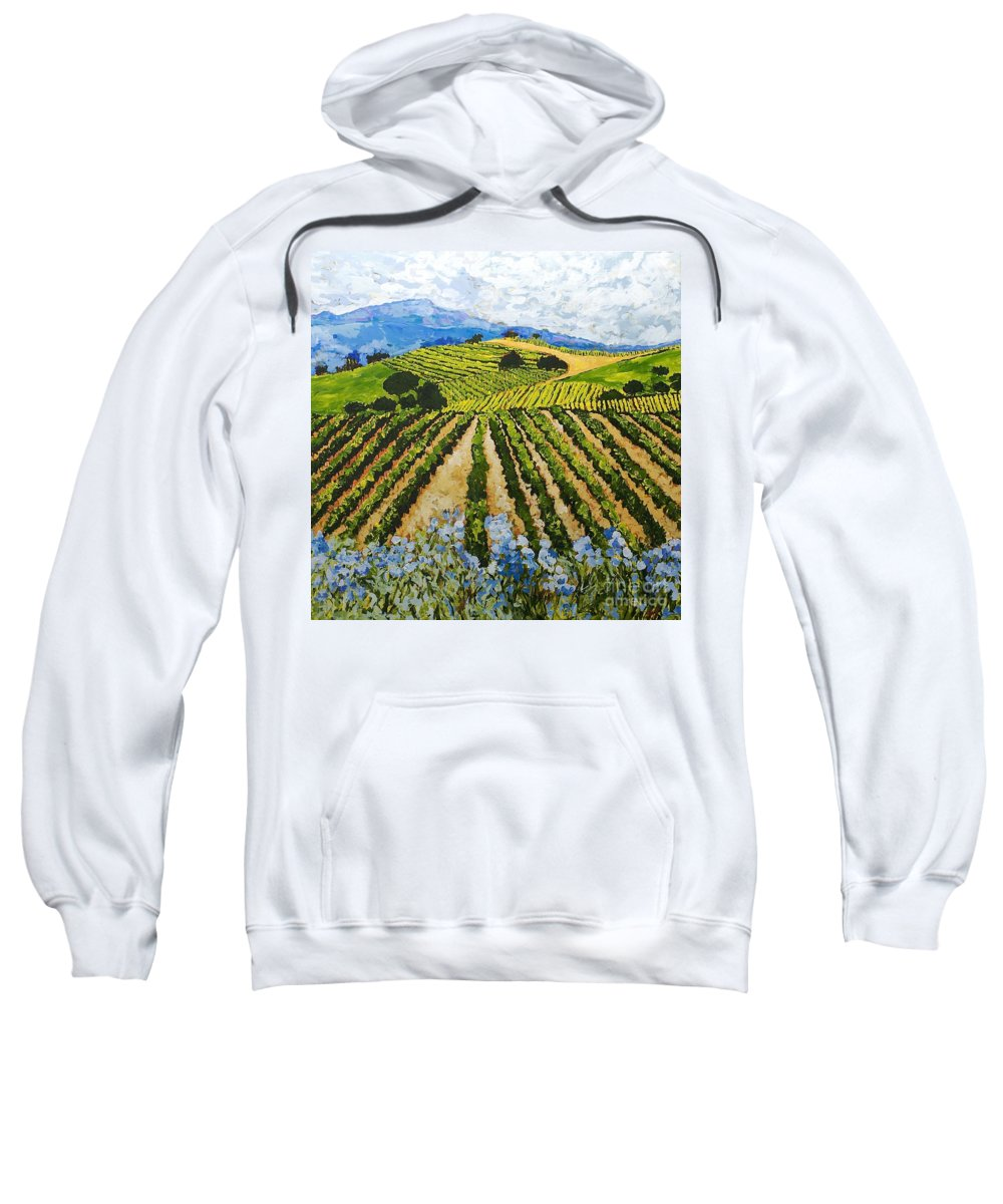 Landscape Sweatshirt featuring the painting Early Crop by Allan P Friedlander