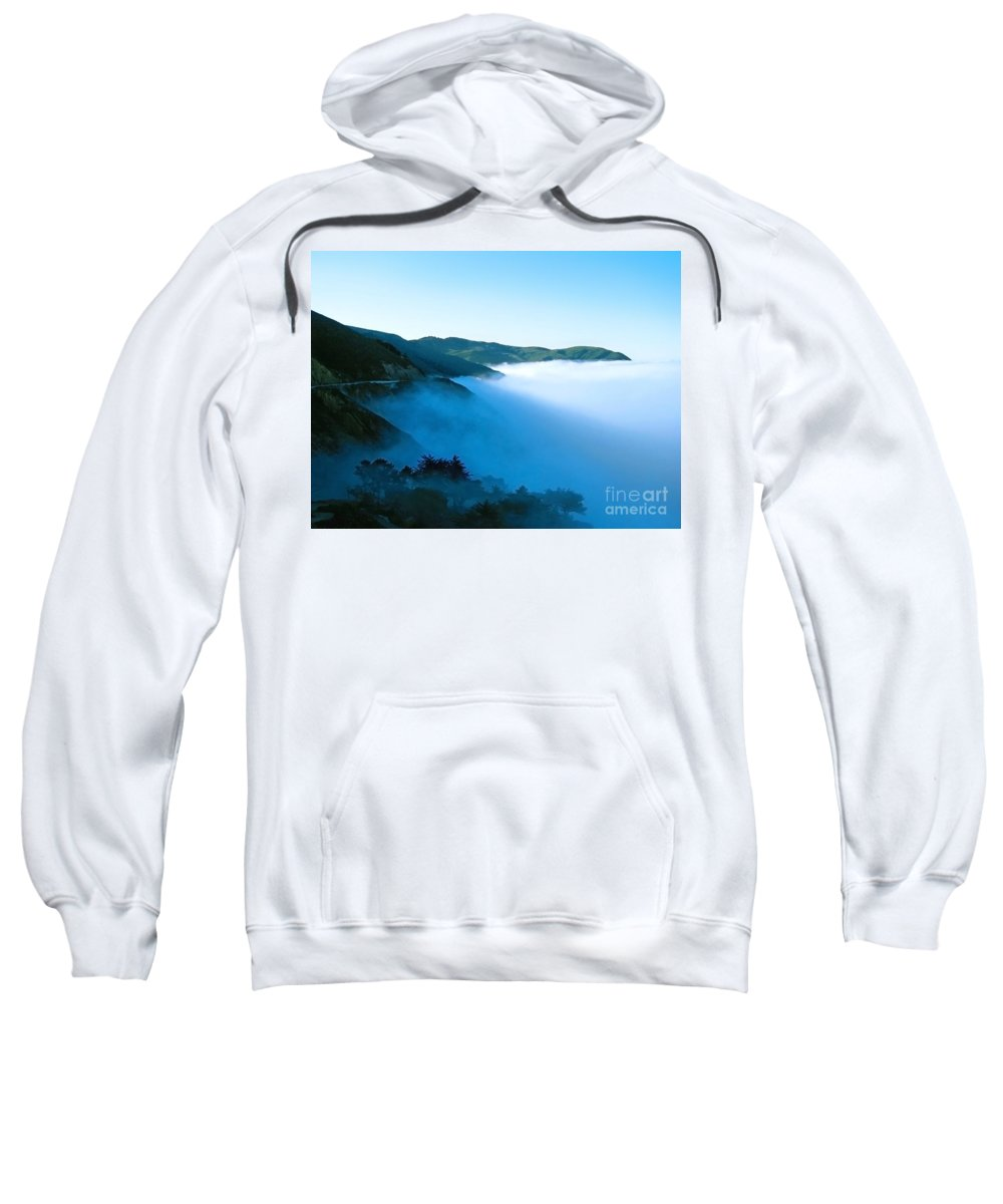 Coast Sweatshirt featuring the photograph Early Morning Coastline by Ellen Cotton