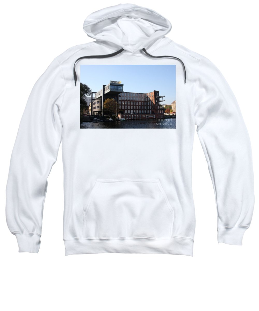 Spree Sweatshirt featuring the photograph East Harbor - Berlin by Christiane Schulze Art And Photography
