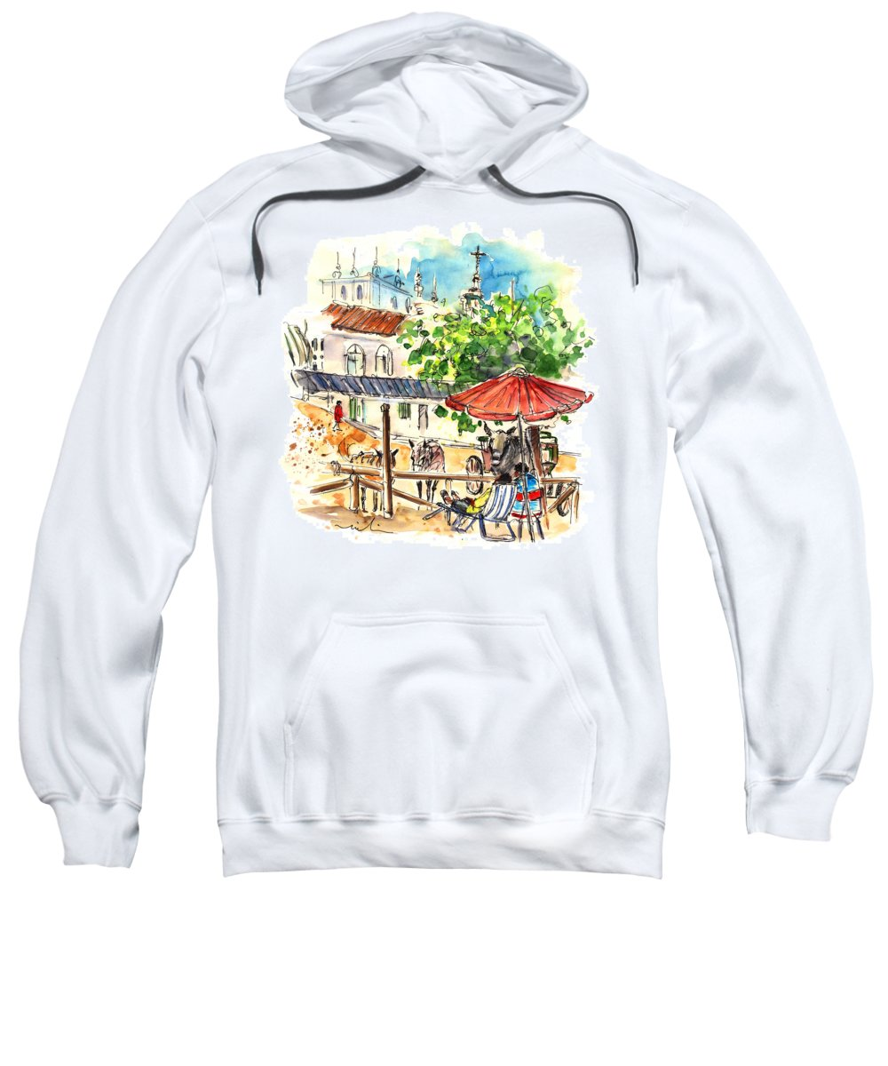 Travel Sweatshirt featuring the painting El Rocio 01 by Miki De Goodaboom