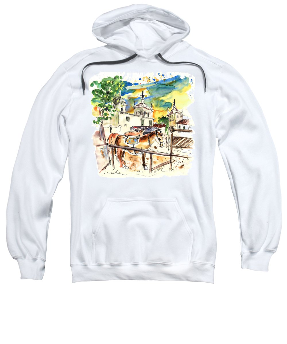Travel Sweatshirt featuring the painting El Rocio 02 by Miki De Goodaboom