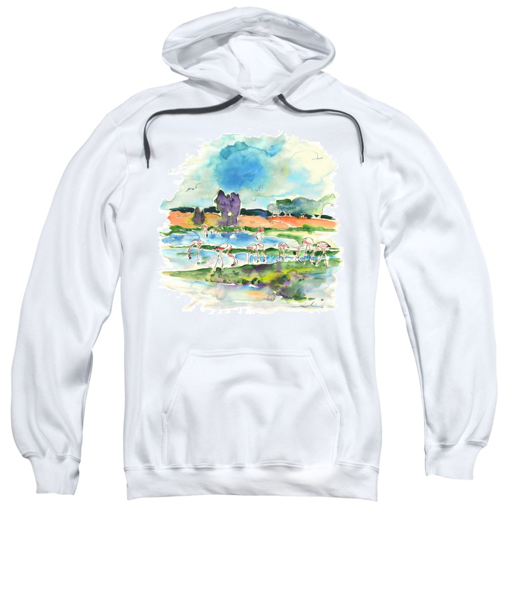 Travel Sweatshirt featuring the painting El Rocio 08 by Miki De Goodaboom