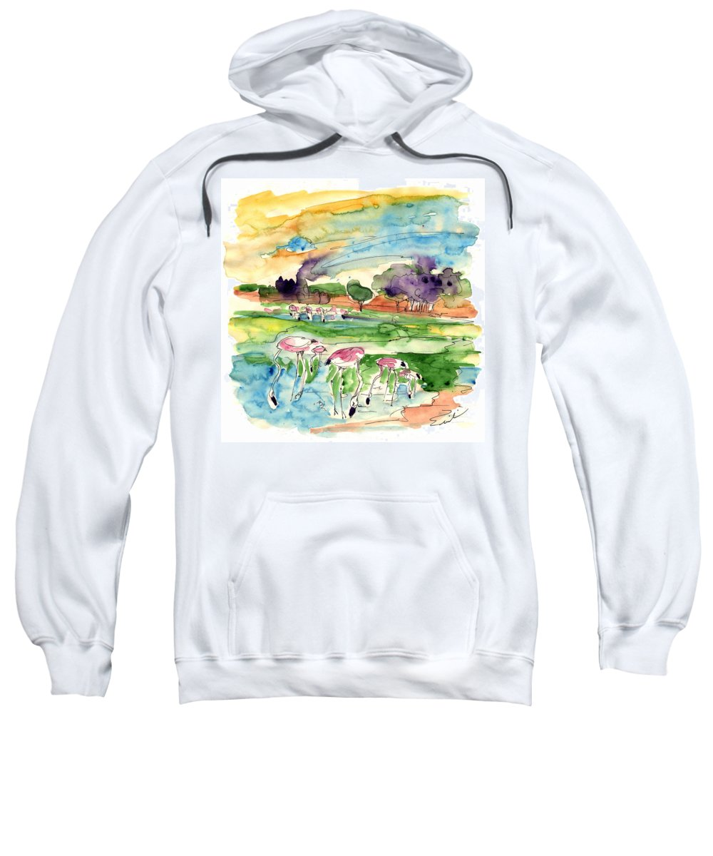 Travel Sweatshirt featuring the painting El Rocio 09 by Miki De Goodaboom