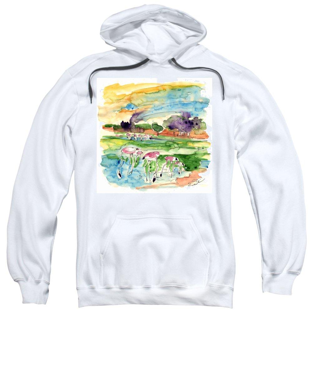 Travel Sweatshirt featuring the painting El Rocio 09 by Miki De Goodaboom