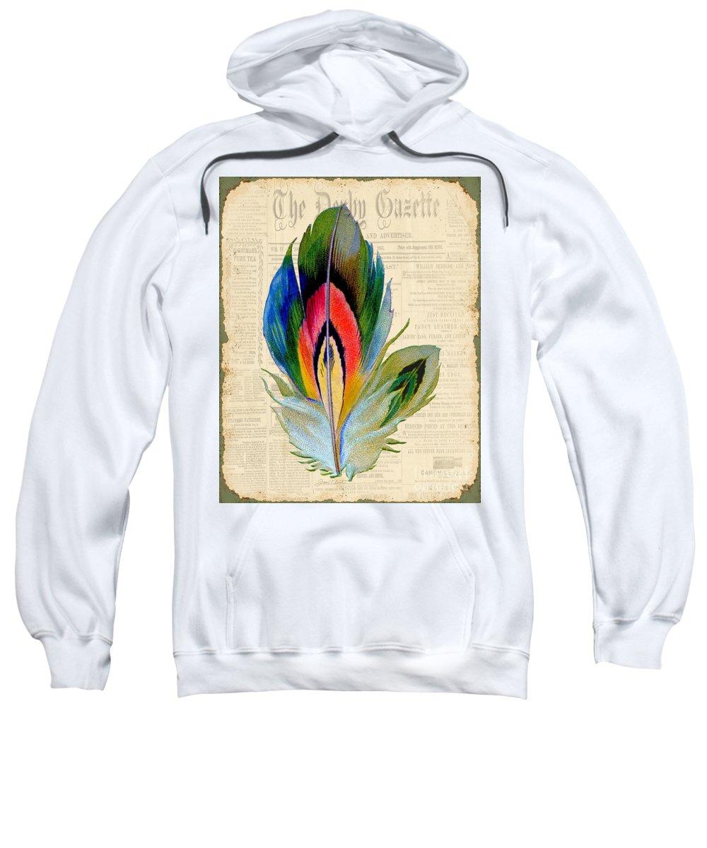 Digital Art Sweatshirt featuring the digital art Elegant Feather-b by Jean Plout