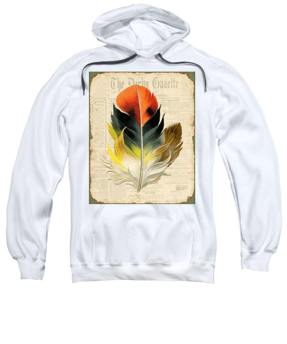 Digital Art Sweatshirt featuring the digital art Elegant Feather-c by Jean Plout