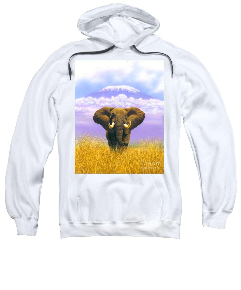 Elephant Sweatshirt featuring the photograph Elephant At Table Mountain by MGL Studio - Chris Hiett