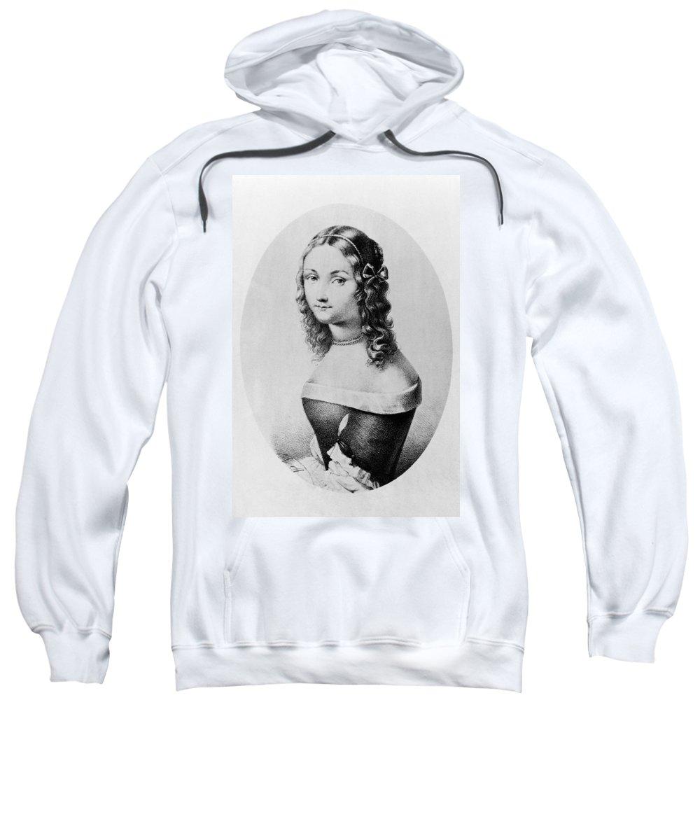 1800s Sweatshirt featuring the painting Elisabetta Sirani (1638-1665) by Granger