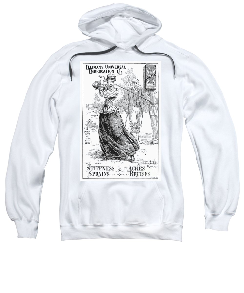 1895 Sweatshirt featuring the photograph Ellimans Remedy, 1895 by Granger