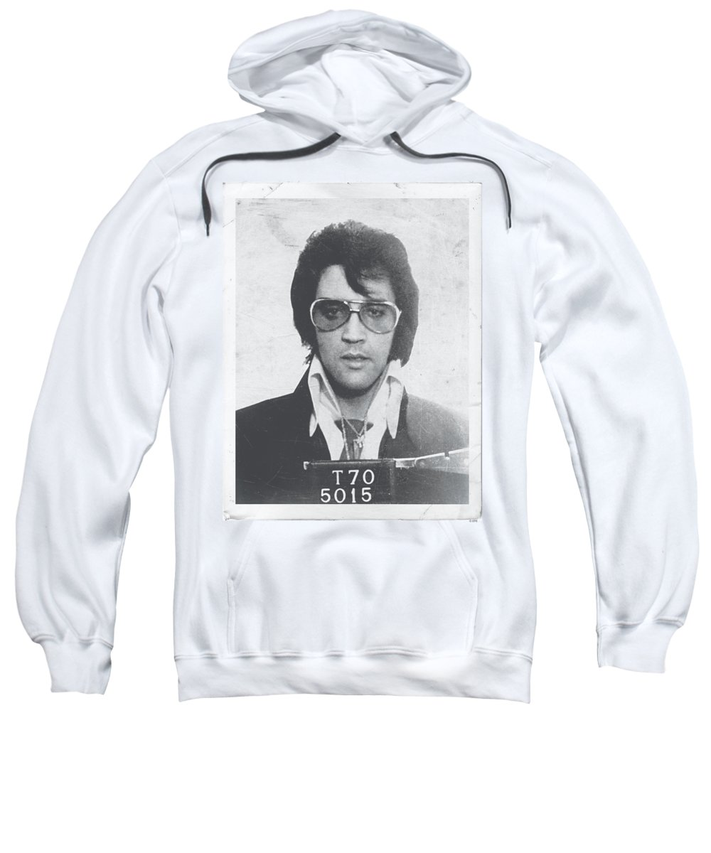 Elvis Sweatshirt featuring the digital art Elvis - Framed by Brand A