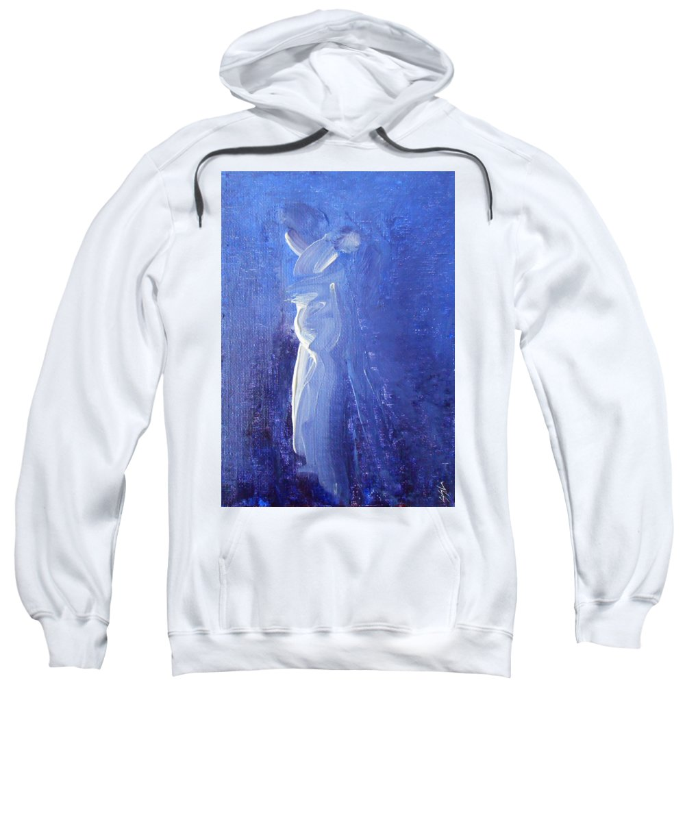 Abstract Sweatshirt featuring the painting Embrace by Jane See