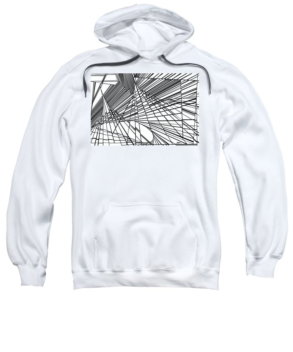 Dynamic Black And White Sweatshirt featuring the painting Empathy by Douglas Christian Larsen