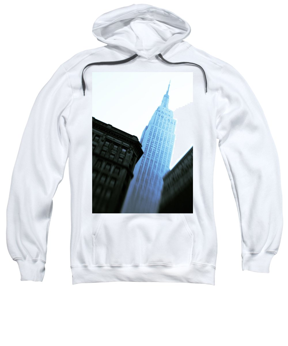 Empire State Building Sweatshirt featuring the photograph Empire State Building by Dave Bowman