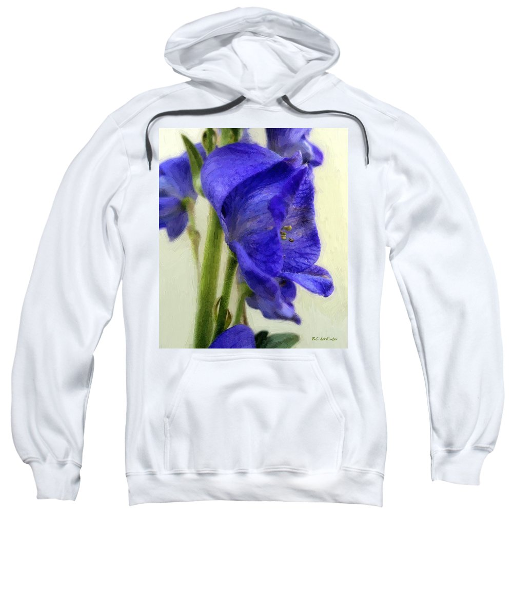 Floral Sweatshirt featuring the painting Empress Of The Blues by RC DeWinter