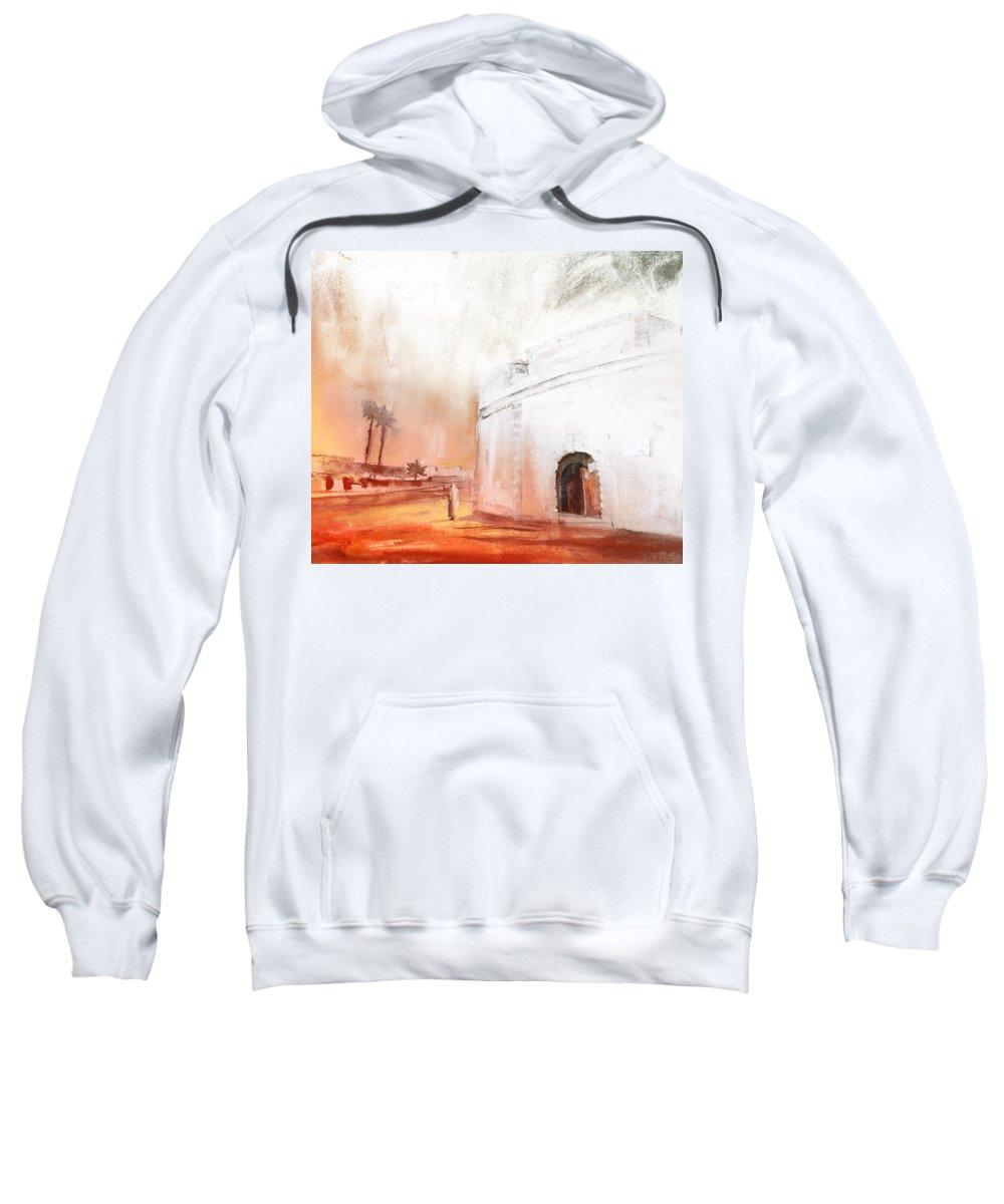Travel Sweatshirt featuring the painting Essaouira Town by Miki De Goodaboom